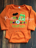 Baby Boy 1st Halloween One piece or T-shirt -- personalized boys Halloween outfit bodysuit or shirt-- Bat - Pretty's Bowtique