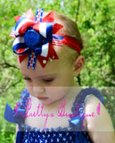 4th of July Outfit Fourth of july romper-- 4th of july outfit Patriotic Bubble Romper-- Girls romper-- Summer outfit--  READY TO SHIP - Pretty's Bowtique