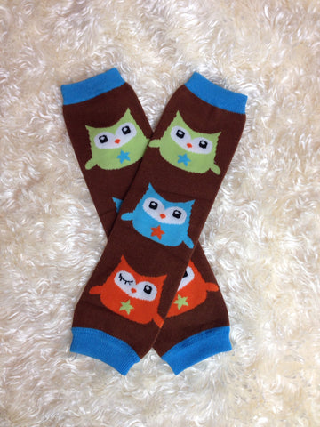 Boy owl Leg Warmers-Baby leg warmers/Photo Prop boys Owls - Pretty's Bowtique