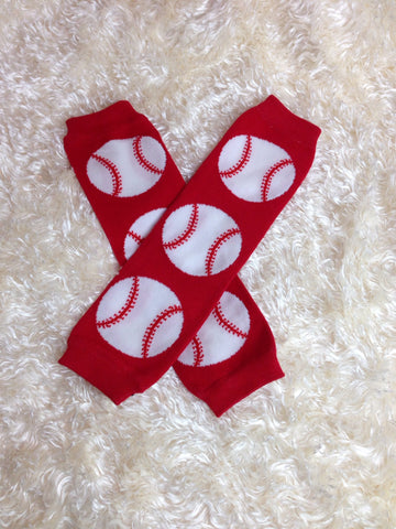 Baseball Leg Warmers-Baby leg warmers/Photo Prop unisex - Pretty's Bowtique