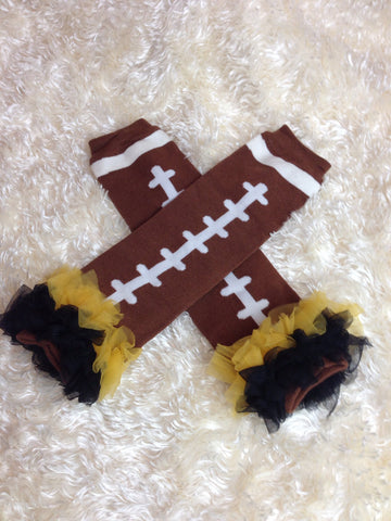 Leg Warmers-Baby leg warmers/Photo Prop and ruffles Football - Pretty's Bowtique