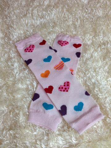Valentine's Day heart Leg Warmers-Baby leg warmers/Photo Prop Hearts multi color - Pretty's Bowtique