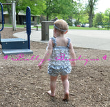 Chevron Petti Romper, baby girls  Lace Rompers, Photography prop, Perfect for Birthdays & Holidays Gray - Pretty's Bowtique