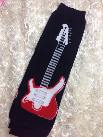 Rock and roll Guitar Leg Warmers-Baby leg warmers/Photo Prop Guitars - Pretty's Bowtique