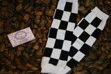 Leg Warmers-Baby leg warmers/Photo Prop Checkered Flag - Pretty's Bowtique