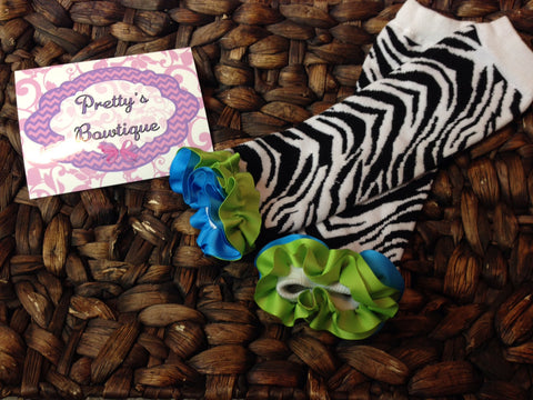 Leg Warmers-Baby leg warmers/Photo Prop zebra  RIBBON RUFFLES - Pretty's Bowtique