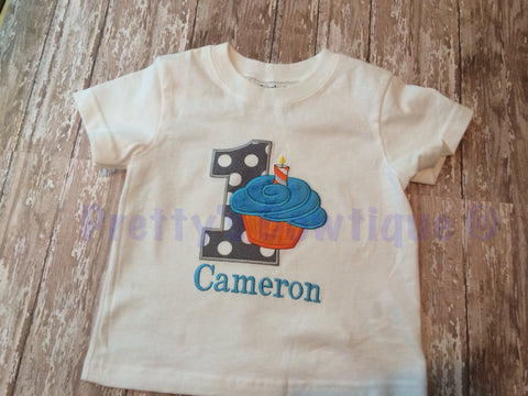 Cupcake Birthday shirt or bodysuit can customize you pick your colors - Pretty's Bowtique