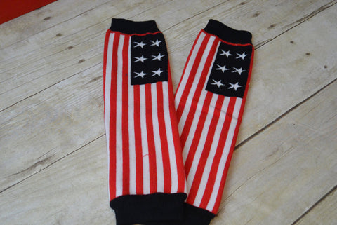 Leg Warmers-Baby leg warmers/Photo Prop American Flag 4th of JULY - Pretty's Bowtique