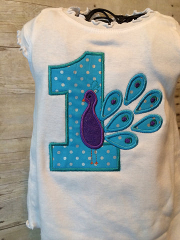 Peacock Birthday shirt can be customized. PEACOCK birthday shirt - Pretty's Bowtique