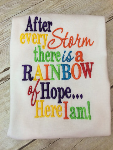 Rainbow Baby Shirt - Pretty's Bowtique