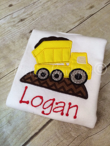Dump truck boys shirt. Construction party - Pretty's Bowtique