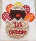 Baby boy My 1st Thanksgiving bodysuit or Shirt My 1ST Gobble - Pretty's Bowtique
