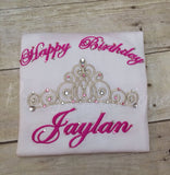 Frozen/Princess Birthday T-Shirt or Bodysuit--Baby Girl First Birthday Shirt--Frozen Birthday Shirt-- Princess Birthday--Any age - Pretty's Bowtique
