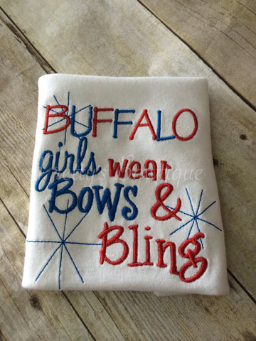 Buffalo Shirt Insprired Girls wear Bows & Bling - Pretty's Bowtique