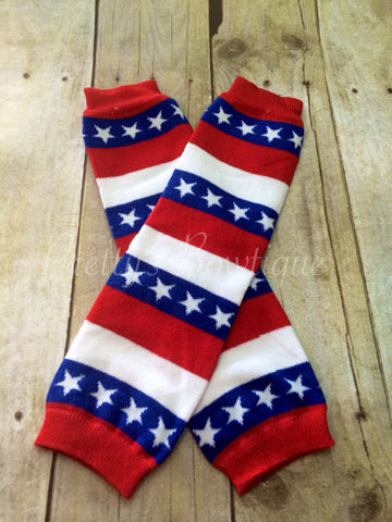 Stars and Stripes Leg Warmers-Baby leg warmers/Photo Prop American Flag - Pretty's Bowtique