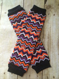 Halloween Leg Warmers-Baby leg warmers/Photo Prop Chevron Halloween Chevron - Pretty's Bowtique