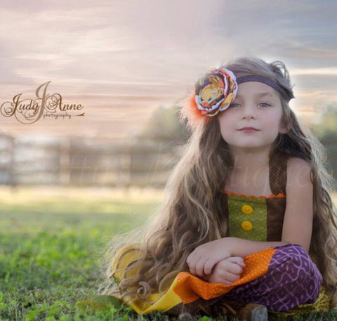Fall Flower Headband for Girls, Babies and Toddlers - Pretty's Bowtique