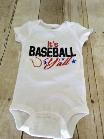 It's Baseball Y'all baseball bodysuit or shirt Can customize colors - Pretty's Bowtique