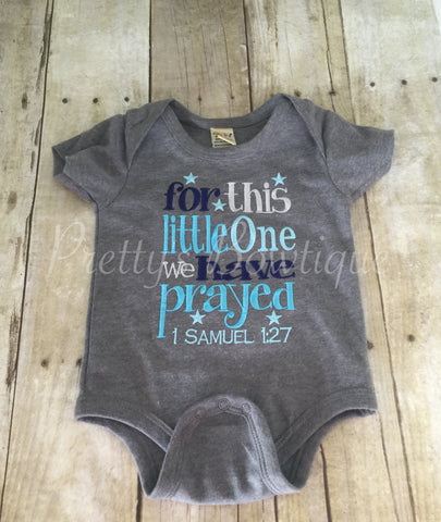 FOR this little ONE I/ WE have Prayed can be customized and made for girls as well - Pretty's Bowtique
