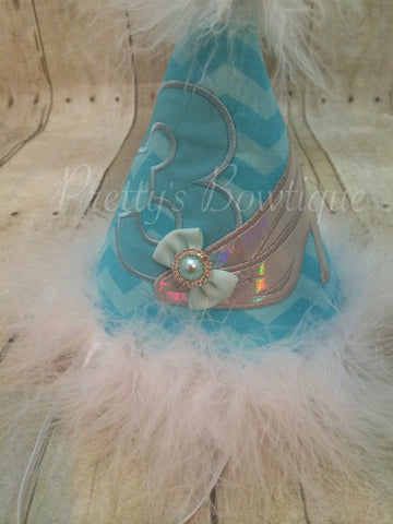 Birthday Party Hat glass slipper Party Hat - Pretty's Bowtique