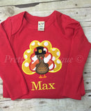 Thanksgiving Turkey personalized shirt or bodysuit  can customize for boys or girls - Pretty's Bowtique
