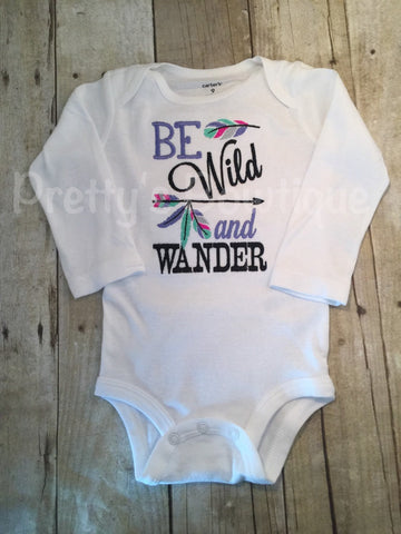 Be Wild and Wander Bodysuit or shirt Set can be customized - Pretty's Bowtique