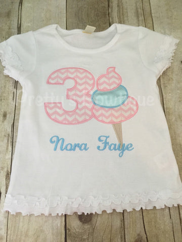 Cotton Candy Birthday Shirt Any Age or Colors carnival or circus - Pretty's Bowtique
