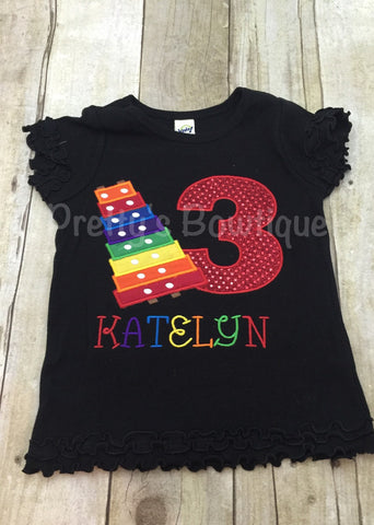 Music Birthday Shirt any age or colors - Pretty's Bowtique