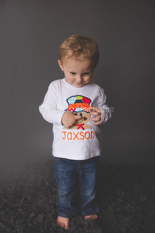 Boy's Fall Scarecrow T Shirt / Bodysuit for Newborn, Toddler & Youth Personalized with Name - Pretty's Bowtique