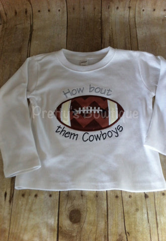 Boys Football shirt or bodysuit for babies, toddler, and children.  You pick team colors - Pretty's Bowtique