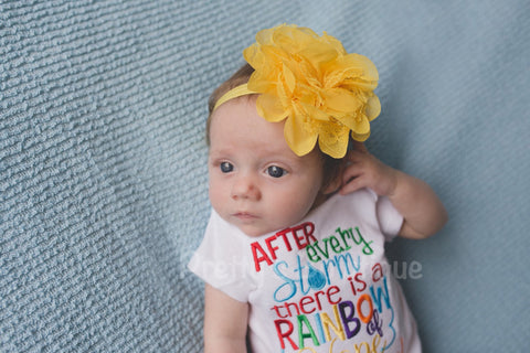 After every storm there is a rainbow of hope... Here i am! Bodysuit or shirt and headband - Pretty's Bowtique