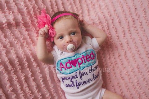 Adoption Shirt or bodysuit can customize for boy/girl/unisex - Pretty's Bowtique