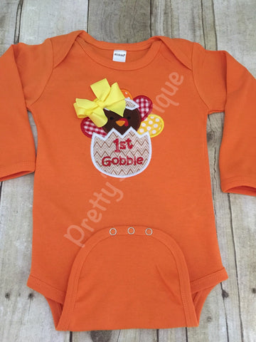 Baby girls Thanksgiving bodysuit or T Shirt --- 1st Thanksgiving Bodysuit or Shirt My 1ST - Pretty's Bowtique