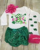 1st St. Patrick's Day shirt or bodysuit  -- My 1st St. Patty's Day shirt, legwarmers, headband, bloomer - Pretty's Bowtique