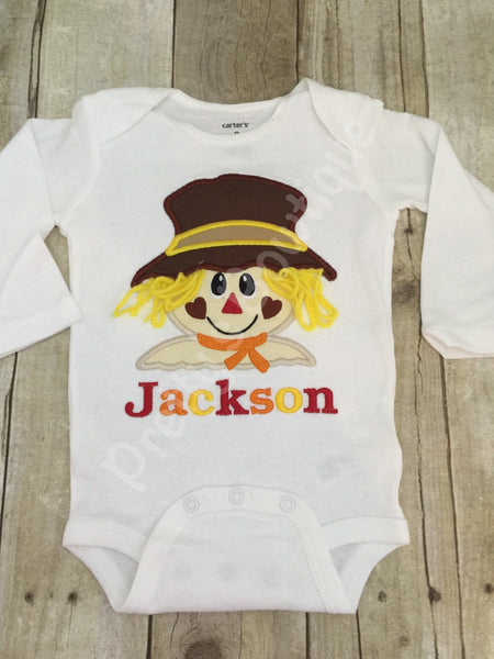 550a2a80b Kids Scarecrow Shirt Personalized with Name - Sizes Newborn to 14 Years