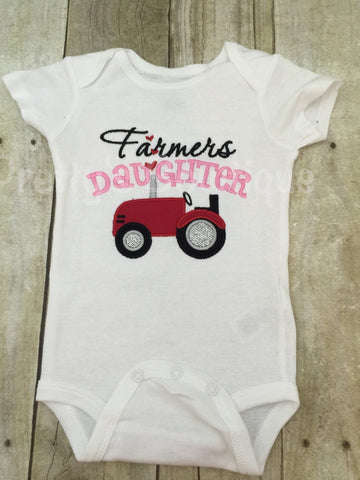 Farmer's Daughter bodysuit or t shirt. Can customize wording and colors - Pretty's Bowtique