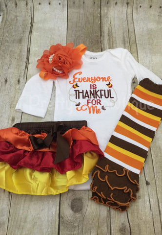 Thanksgiving shirt or bodysuit - Everyone is Thankful for me - unisex baby bodysuit - kids t shirt thanksgiving - fall outfit