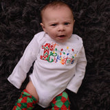 Baby boy My 1st Christmas - First Christmas bodysuit or shirt christmas legwarmers - Pretty's Bowtique
