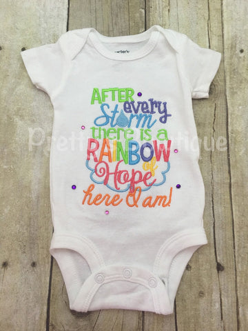 After every storm there is a rainbow of hope... Here i am! Bodysuit or shirt - Pretty's Bowtique