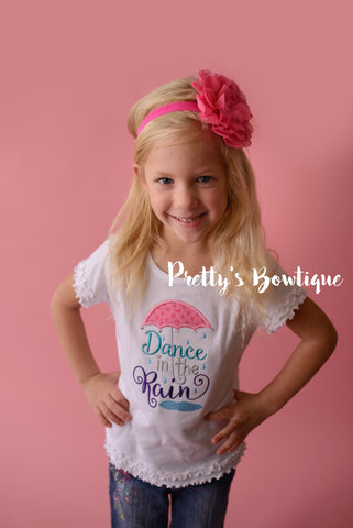 Dance in the rain--girls t shirt or bodysuit-- Girls T Shirt Dance in the Rain - Pretty's Bowtique