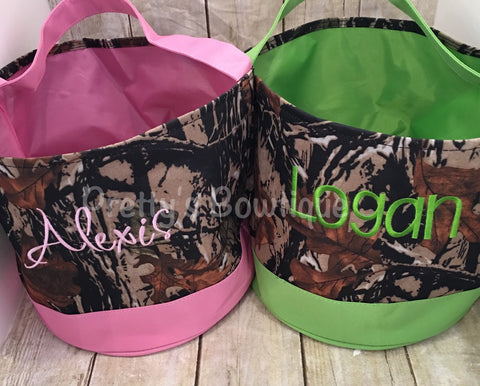 Camo Easter Basket -- Personalized Easter Basket -- Camo  Bucket  -- Children's Easter Bucket -- Easter Pail personalized - Pretty's Bowtique