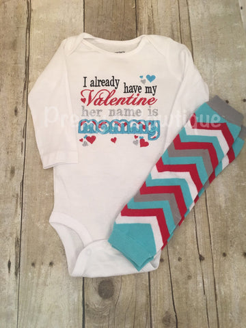 Valentines Day Outfit for Newborn, Baby Boy & Kids - 2-Piece Set for Mommy