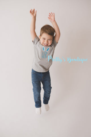 Boys Easter Shirt -- Easter Bunny shirt monogram-- Boy Easter Bunny shirt or Bodysuit -- Boys T Shirt -- - Pretty's Bowtique