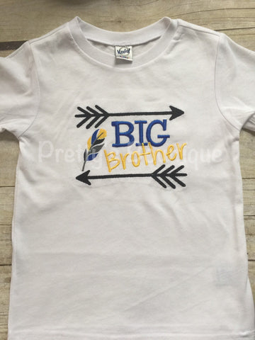 Boys Big Brother t shirt- Big brother announcement shirt or bodysuit -Can customize and personalize - Pretty's Bowtique