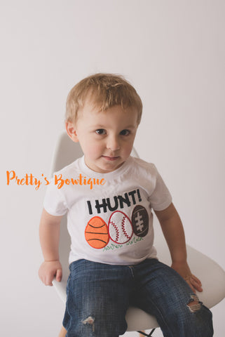 Boys I Hunt Easter Shirt -- Boys Sports Easter shirt or bodysuit-- Basketball -- Football -- Baseball -- boys Easter outfit - Pretty's Bowtique