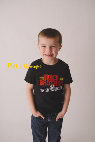 Big Brother bodysuit or shirt -Big Brother AKA sister protector bodysuit or shirt -- Little boys shirt-- Big Brother shirt - Pretty's Bowtique