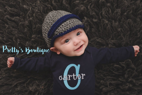 Baby Boy Coming Home Outfit - Baby Boy Bodysuit - Personalized Embroidered Baby Clothing Monogram - Baby Outfit - Baby Boy shower gift - Pretty's Bowtique