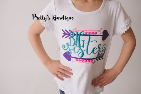 Big Sister T shirt-  Big sister announcement shirt -- Big Sister t shirt or body suit-- Pregnancy Announcement Shirt - Pretty's Bowtique