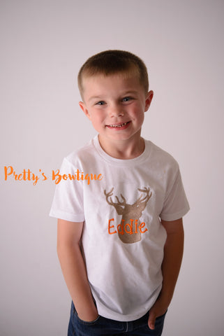 Deer T Shirt or Bodysuit for Boys -- Personalized Kids Shirts Sizes Newborn to Boys  Youth XL - Pretty's Bowtique