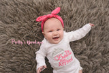 Baby girl The Princess has arrived shirt or bodysuit -- Newborn coming home outfit-- Perfect for hospital or coming home outfit - Pretty's Bowtique